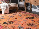 Nuloom Handmade Bold Abstract Floral Wool area Rug Nuloom Montesque Hand Tufted Wool Rug 6 X 9 orange