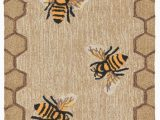 Nuloom Traditional Honeycomb area Rug Trans Ocean Frontporch Honey B Bee Natural area Rug