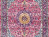 Nuloom Verona Blue area Rug Traditional Medallion Verona