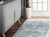 """Nuloom Vintage Distressed area Rug Nuloom Persian Vintage Distressed Runner Rug Light Blue 2 8"""" X 8 Feet"""