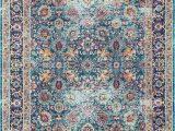 Nuloom Vintage Floral area Rug Nuloom Traditional Vintage Cotton Blend Floral area Rug In Purple Blue orange