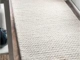 Off White Wool area Rug Nuloom F White Hand Woven Chunky Woolen Cable Cb01 area