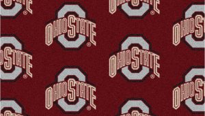 "Ohio State Buckeyes area Rug Details About 10×13 Milliken Ohio State Buckeyes Ncaa Repeat area Rug Approx 10 9""x13 2"""