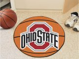 Ohio State Buckeyes area Rug Ohio State Buckeyes 27 Basketball Interior Rug