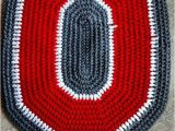 Ohio State Buckeyes area Rug Ohio State Buckeyes Crochet Rug Handmade Block O Throw Rug