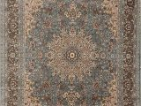 Ollie S Outlet area Rugs Feraghan New City Traditional isfahan Wool Persian area Rug 2 X 3 Light Blue Silver