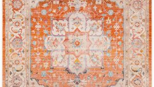 Orange and Beige area Rug Sherwood orange and Beige Updated Traditional area Rug 5 X 7 9""