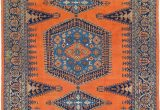 Orange and Blue Persian Rug orange 8 5 X 11 4 Viss Persian Rug
