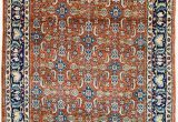 "Orange and Blue Persian Rug Vintage Persian Rug Wool Rug orange and Blue Rug 3 X 4 5"" Rug"