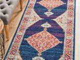 Orange and Blue Runner Rug Century 966 Royal Blue Runner Rug