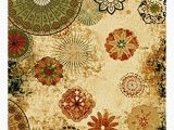 Orange and Green area Rugs Derlyum Anti Bacterial Floral Tufted Yellow orange Green area Rug