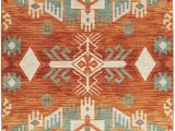 Orange and Green area Rugs Mohawk Home Prismatic Eidenau Sunset Aztec Precision Printed area Rug 8 X10 orange and Green