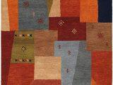 "Orange and Green area Rugs Rizzy Home Mojave Collection Wool area Rug 3 6"" X 5 6"" Multi orange Burgundy Tan Beige Green"