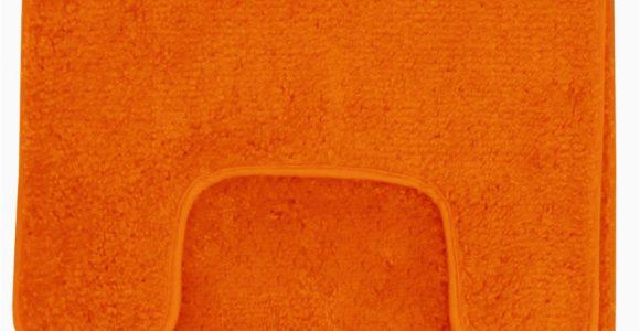 Orange Bath Rug Set Hailey 3 Piece Bathroom Rug Set Bath Mat Contour Rug toilet Seat Lid Cover orange
