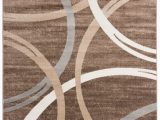 "Orian Rugs Fleet Gray area Rug Modern Abstract Circles Design area Rug 7 10"" X 10 2"" Brown"