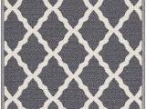 """Ottomanson Ultimate Shaggy Contemporary Moroccan Trellis Design area Rug Grey Ottomanson Glamour Collection Non Slip Moroccan Trellis Design Runner Rug 20"""" X 59"""" Gray"""
