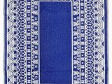 Outdoor Blue and White Rug Fresco Outdoor Recycled Plastic Rug Dark Blue White
