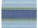 Outdoor Rug Blue and Green Fiesta Stripe French Blue Green Indoor Outdoor Rug