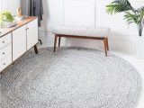 Oval area Rugs Near Me Gray 8 X 10 Braided Chindi Oval Rug