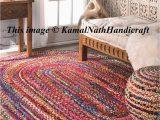 Oval area Rugs Near Me Hand Braided Bohemian Colorful Cotton Chindi area Rug Multi