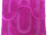 "Oval Shaped Bathroom Rugs 2 Piece Ultra soft Full Of Microfiber Oval Shaped Bath Mat Set Mat 20"" X 32 Small Mat 20"" X 18 Hot Pink"