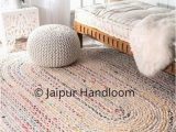 Oval Shaped Bathroom Rugs Hand Knotted Cotton Chindi 5 X 7 Feet Oval area Rug for