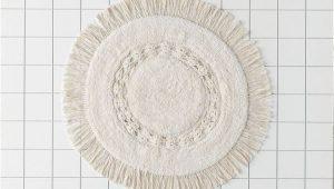 Oversized Round Bathroom Rugs Raine Crochet Round Bath Mat In 2020