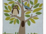 Owl area Rug for Nursery Dwellstudio Kids and Baby Rug Cute Tree with Owl and Bird