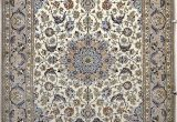Pale Blue Persian Rug isfahan Silk Persian Rug Item 777