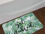 Palm Leaf Bath Rug Lb Green Tropical Coconut Leaf Bathroom Mat Black Font Get Naked Bathroom Rugs Funny Bath Mat Home Decorsoft Memory Foam Non Slip Absorbent 16×24