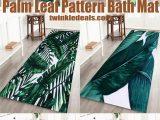 Palm Leaf Bath Rug Palm Leaf Pattern Bath Mat European Home Decor Tropical