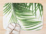 Palm Leaf Bath Rug Palm Leaves Green Vibes 9 Tropical Decor Art Bath Mat