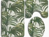 Palm Tree Bathroom Rug Set Gohao Green Palm Trees 3 Piece Bathroom Rugs Set Bath Rug