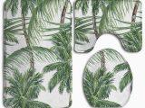Palm Tree Bathroom Rug Set Pudmad Palm Tree Leaves 3 Piece Bathroom Rugs Set Bath Rug