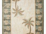 Palm Tree Design area Rugs Beige Bone Bahamas Palm Tree Rug 2320