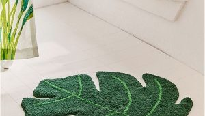 Palm Tree Rugs Bathrooms Monstera Leaf Bath Mat Urban Outfitters