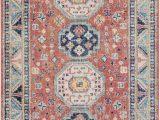 Peach and Blue Persian Rug World Market Bilaal oriental Garnet Navy area Rug