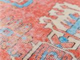 Peach and Blue Persian Rug World Market Coral and Blue Clarena area Rug