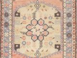 """Peach and Blue Persian Rug World Market E Of A Kind Keensburg oriental Hand Knotted 2 5"""" X 4 8"""" Wool Peach area Rug"""