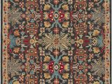 Peach and Blue Persian Rug World Market Pewitt southwestern Hand Tufted Wool Peach Charcoal area Rug
