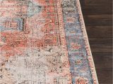 Peach and Blue Persian Rug World Market Pin On Living Room