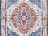 Peach and Blue Persian Rug World Market Rigmar oriental Blue Beige Cream area Rug