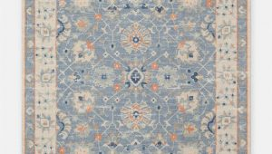 Peach and Blue Persian Style Chenille Oasis area Rug A Palette Of soft Subtle Hues Gives This Patterned Rug A
