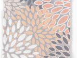 Peach Bath Rug Set Amazon Com society6 Flowers Abstract Print Coral Peach