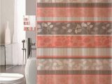 Peach Bath towels and Rugs 18 Piece Bathroom Set with Rugs Mats Shower Curtains Rings