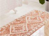 Peach Color Bathroom Rugs Sienna Kilim Bath Mat