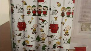 Peanuts Harvest Bath Rug New Peanuts Holiday Christmas Fabric Shower Curtain with Hooks