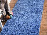 Periwinkle Blue area Rug Periwinkle Blue 2 6 X 13 solid Shag Runner Rug
