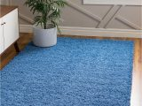 Periwinkle Blue area Rug Periwinkle Blue 4 X 6 solid Shag Rug