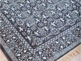Persian Rug Navy Blue Modern Navy Blue and White Persian Style Fringe Rug